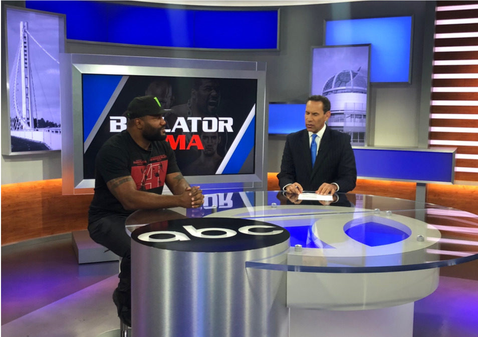 """Rampage"" Jackson visits ABC Bay Area with Larry Beil."