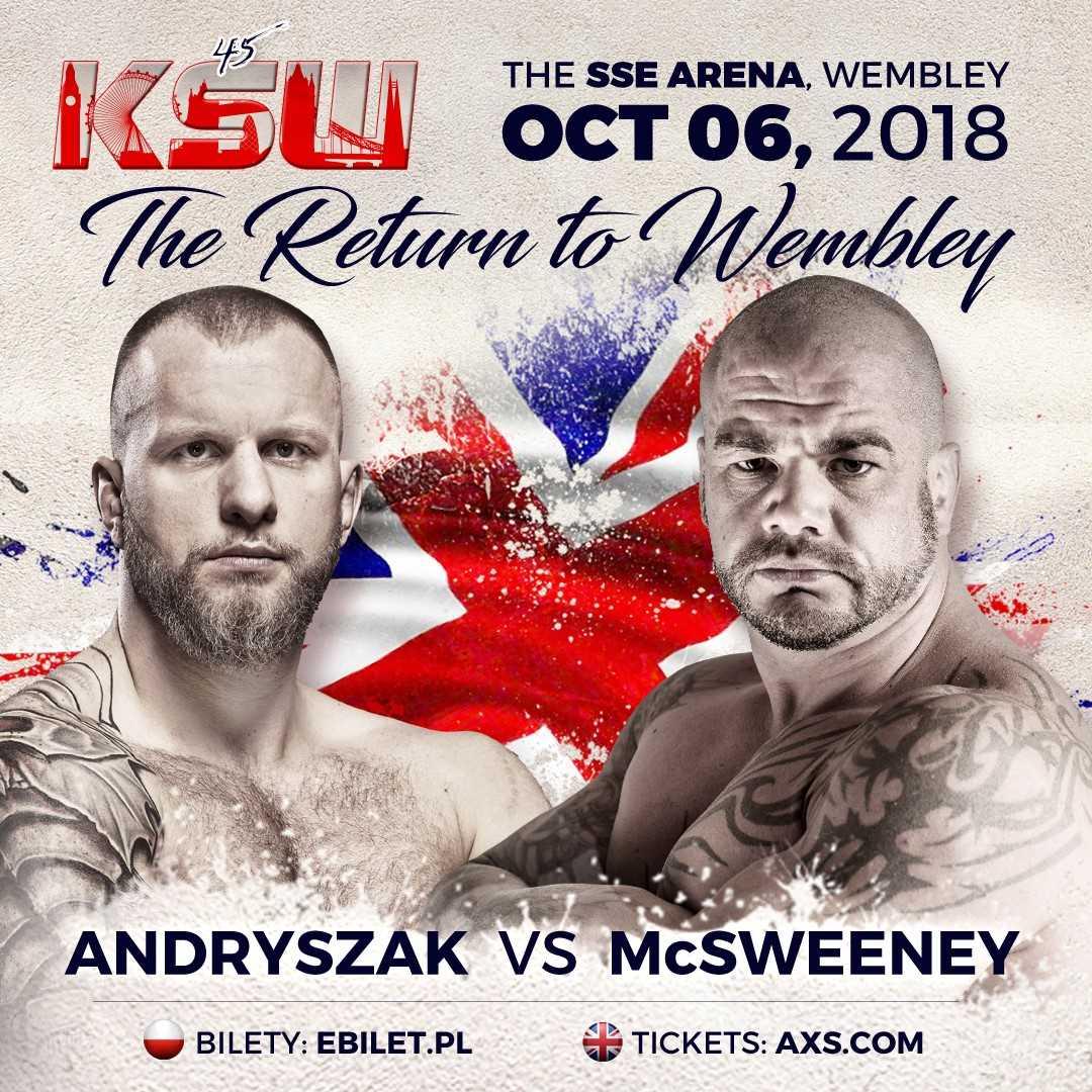 James McSweeney faces Michal Andryszak at KSW 45