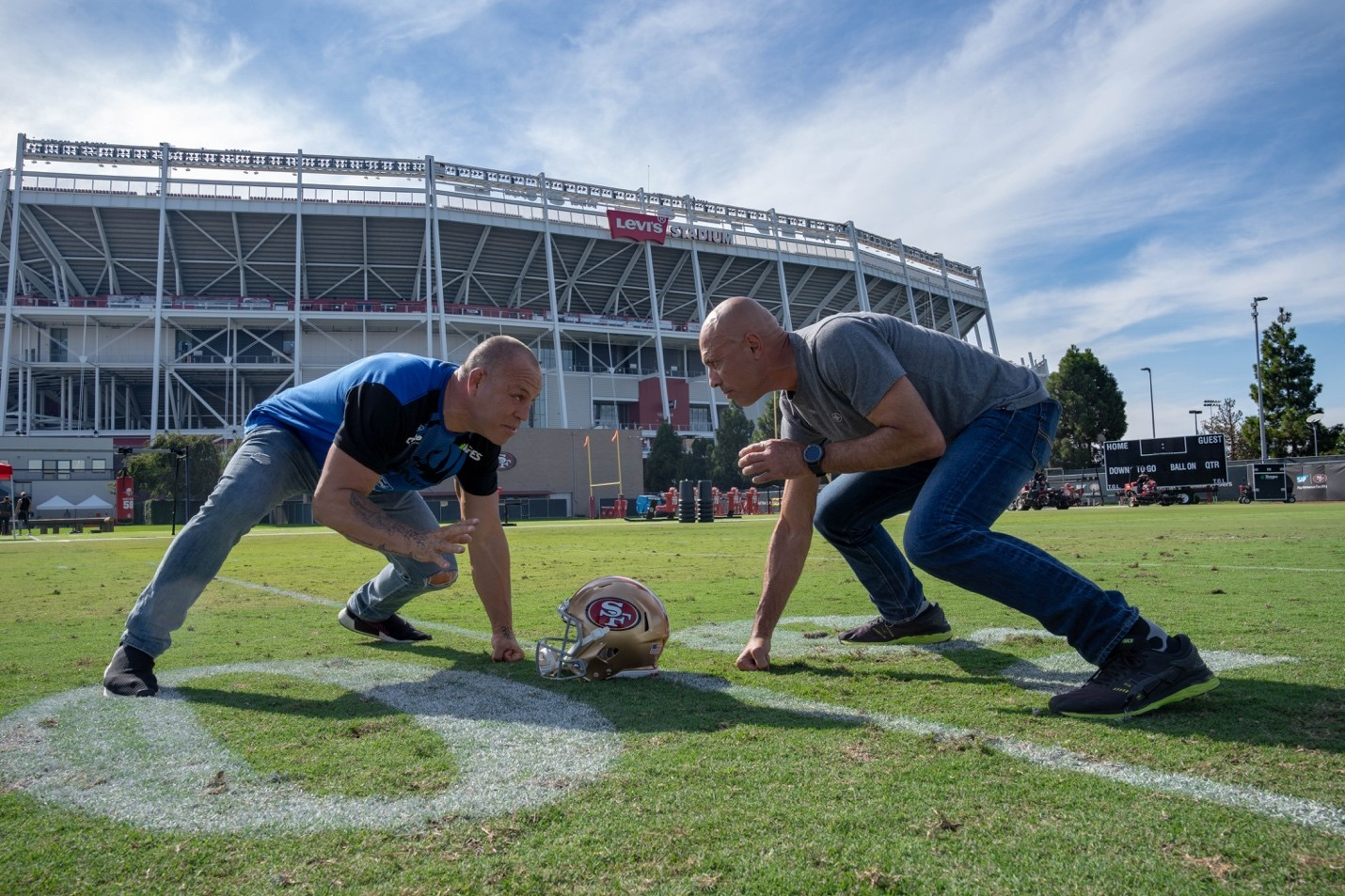 A legendary square-off between Wanderlei Silva and Royce Gracie on the 49ers field.