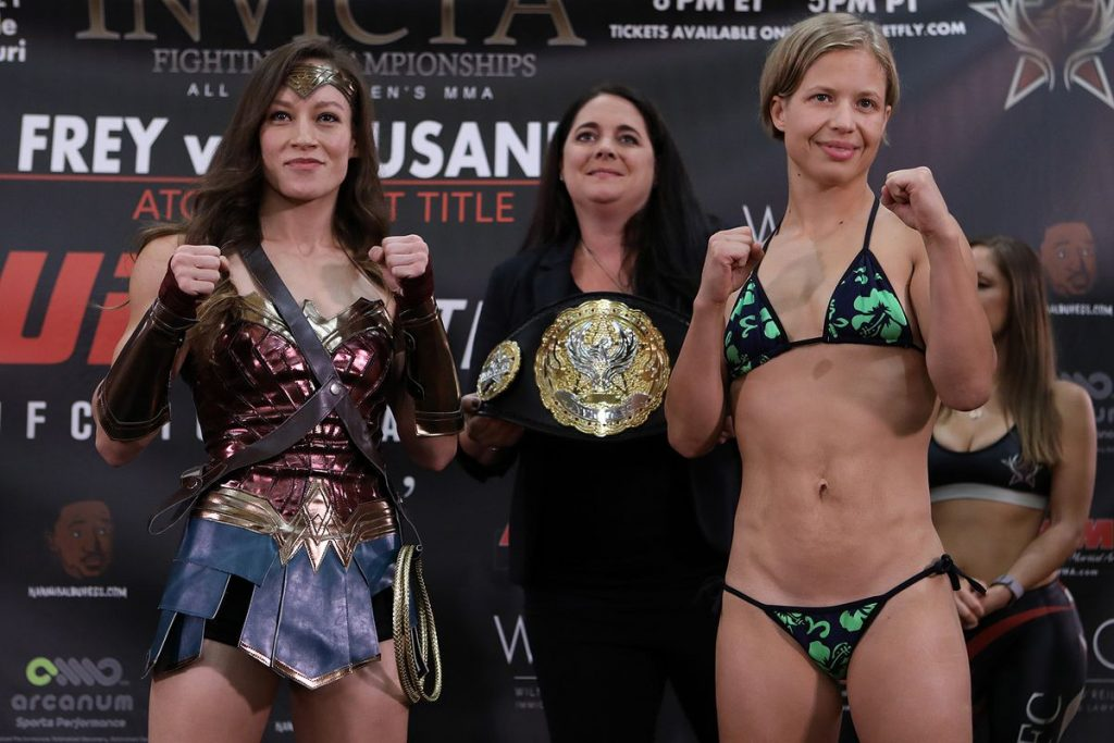 Jinh Yu Frey and Minna Grusander, Invicta FC 33