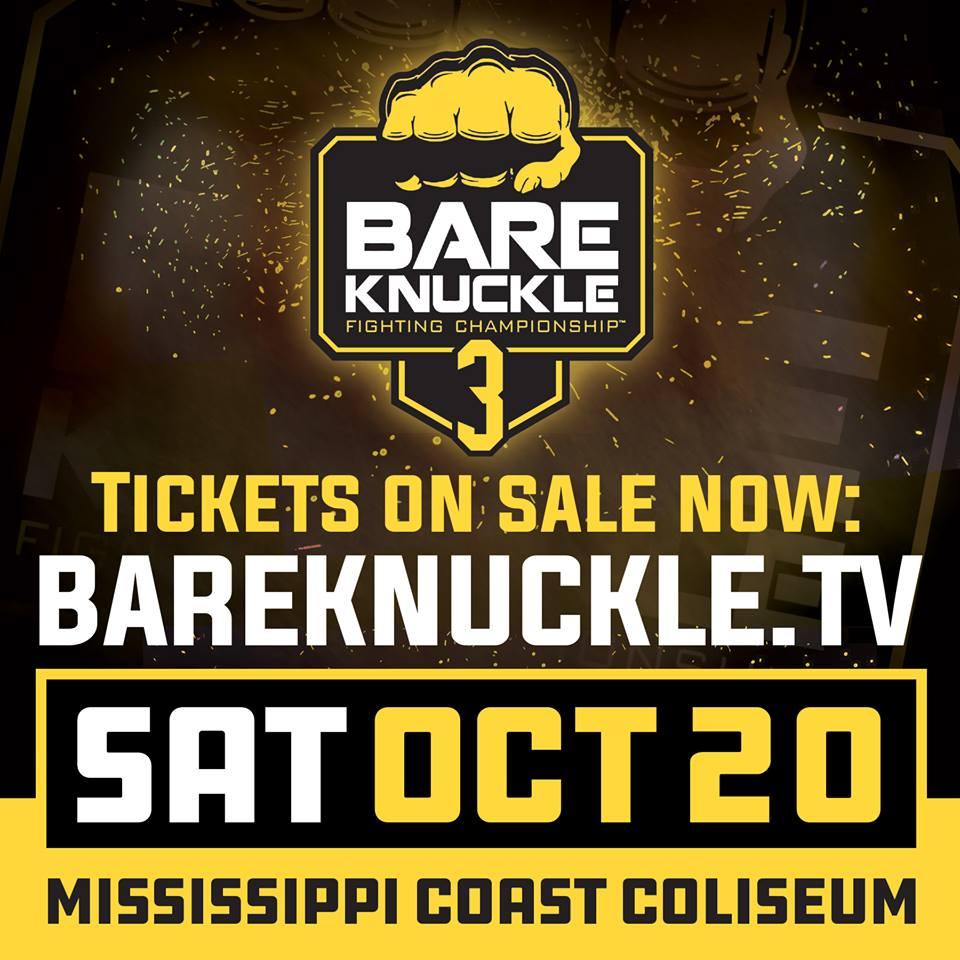 Bare Knuckle Fighting Championship Lightweight Tournament Quarterfinal Matchups Set for October 20