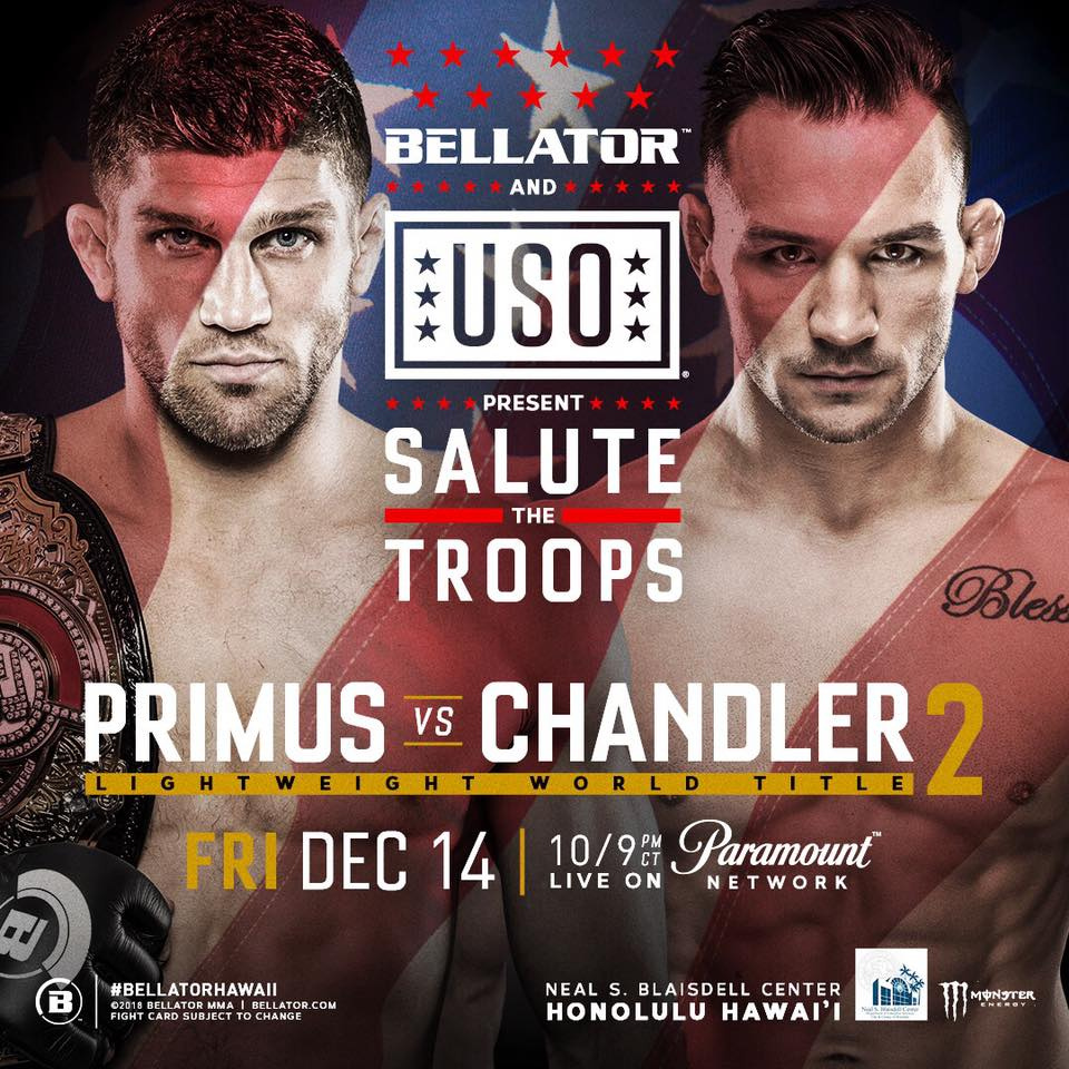 Bellator and USO team up to salute the troops with special live event in Hawaii on December 14
