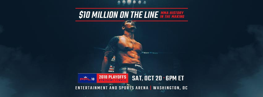 PFL 10 Results - 2018 playoffs - Welterweights & Middleweights