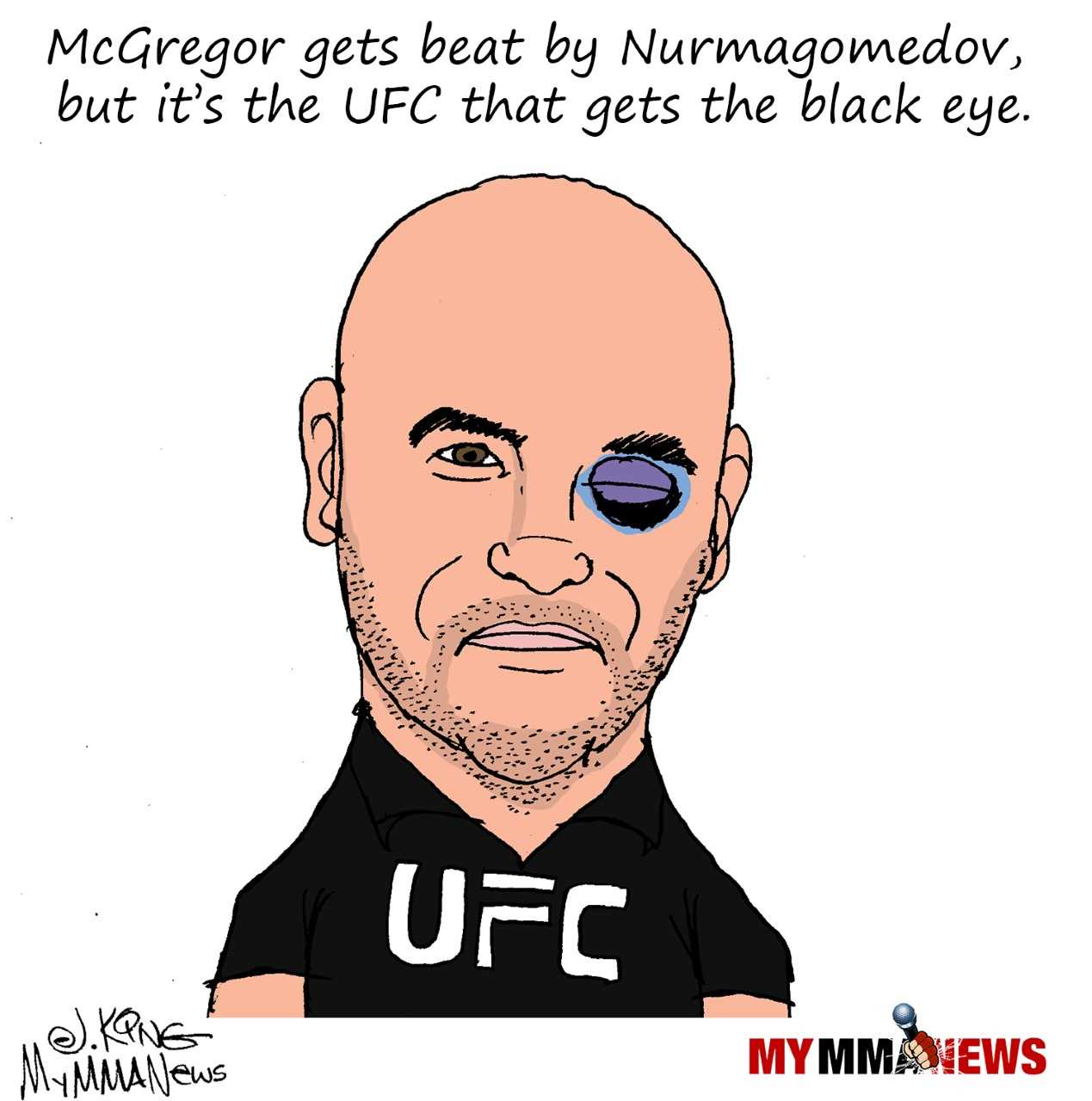 UFC 229, UFC 229 brawl, black eye