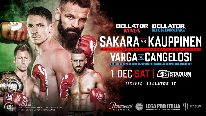 Alessio Sakara to Headline Bellator's Debut in Genoa, Italy at RDS Stadium on Dec. 1