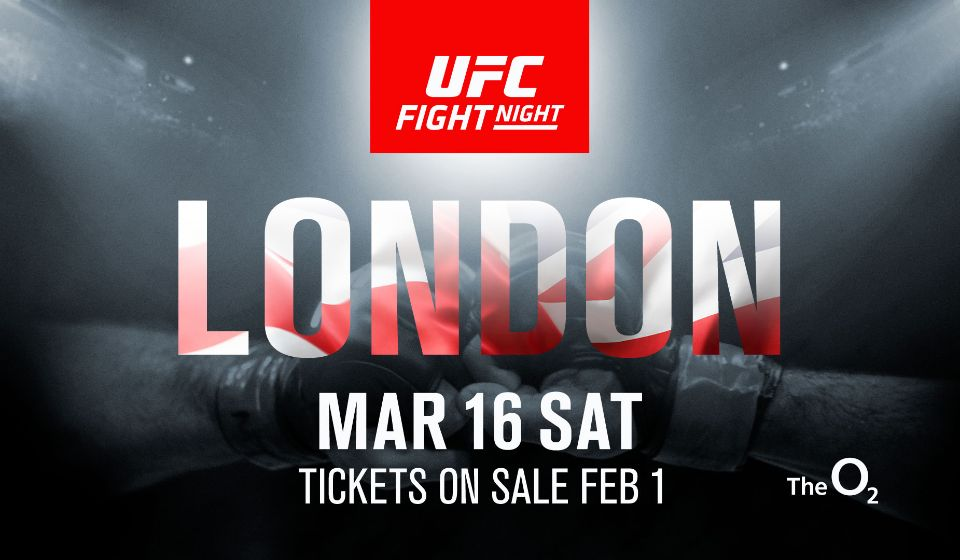 UFC returns to London on March 16, 2019