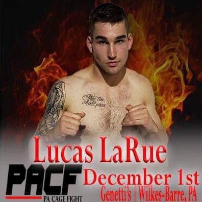 Lucas LaRue, Pa Cage Fight 34