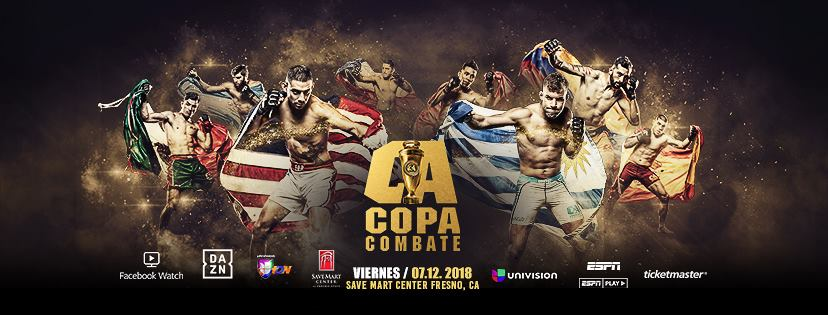 Combate Americas' Copa Combate 2 fight card is finalized