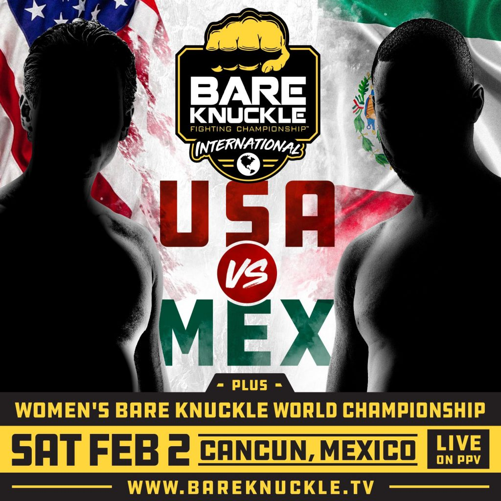 Bare Knuckle FC goes international with USA vs. Mexico fight card