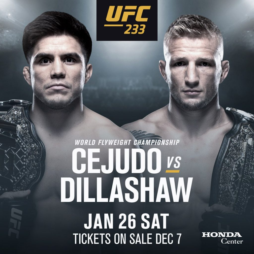 UFC 233, T.J. Dillashaw