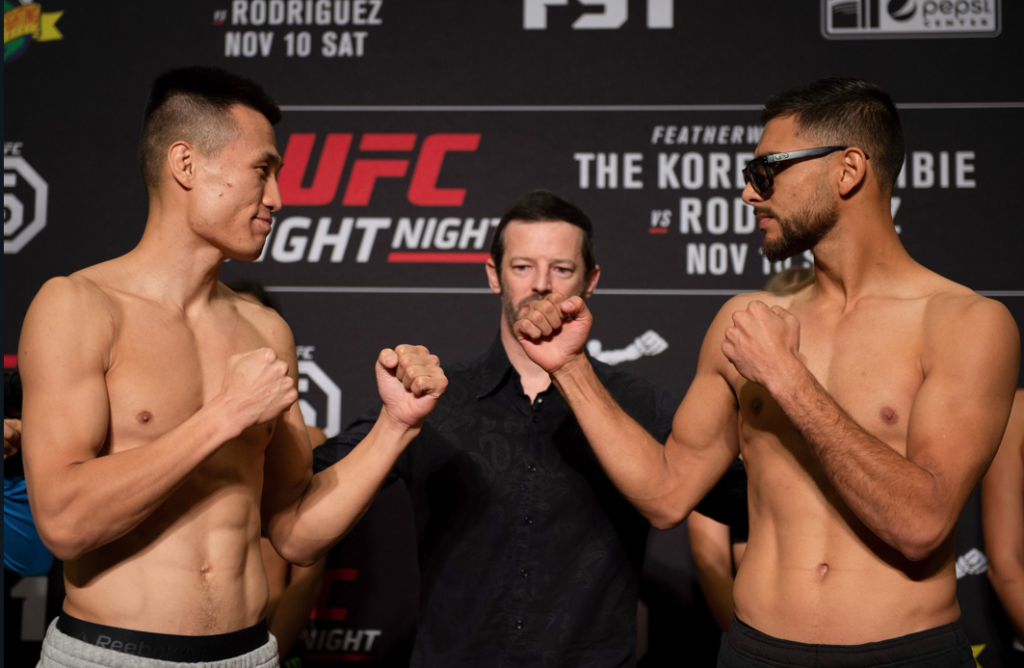 UFC Fight Night 139 weigh-in results - Korean Zombie vs. Rodriguez