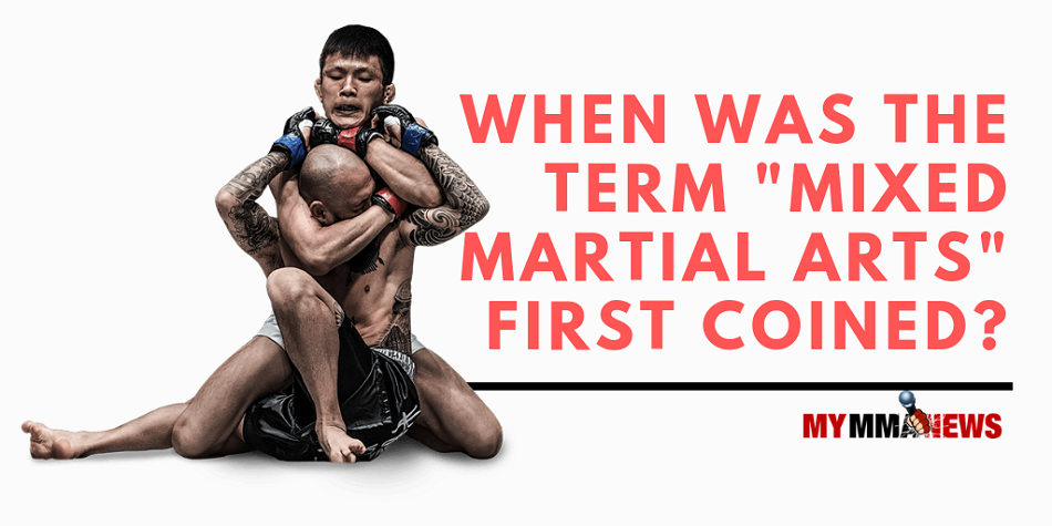When was the term 'mixed martial arts' first coined?