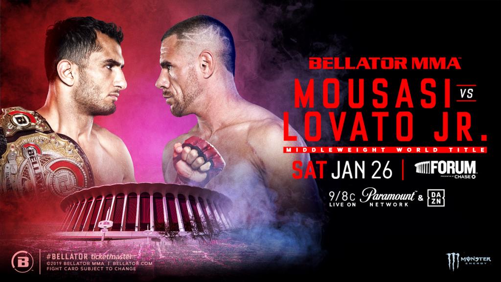 Gegard Mousasi Defends Bellator Middleweight Championship Against Unbeaten Rafael Lovato Jr. on Jan. 26 in L.A.