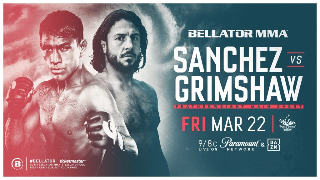 Emmanuel Sanchez Headlines Bellator's Return to WinStar World Casino and Resort on March 22 Against Ashleigh Grimshaw