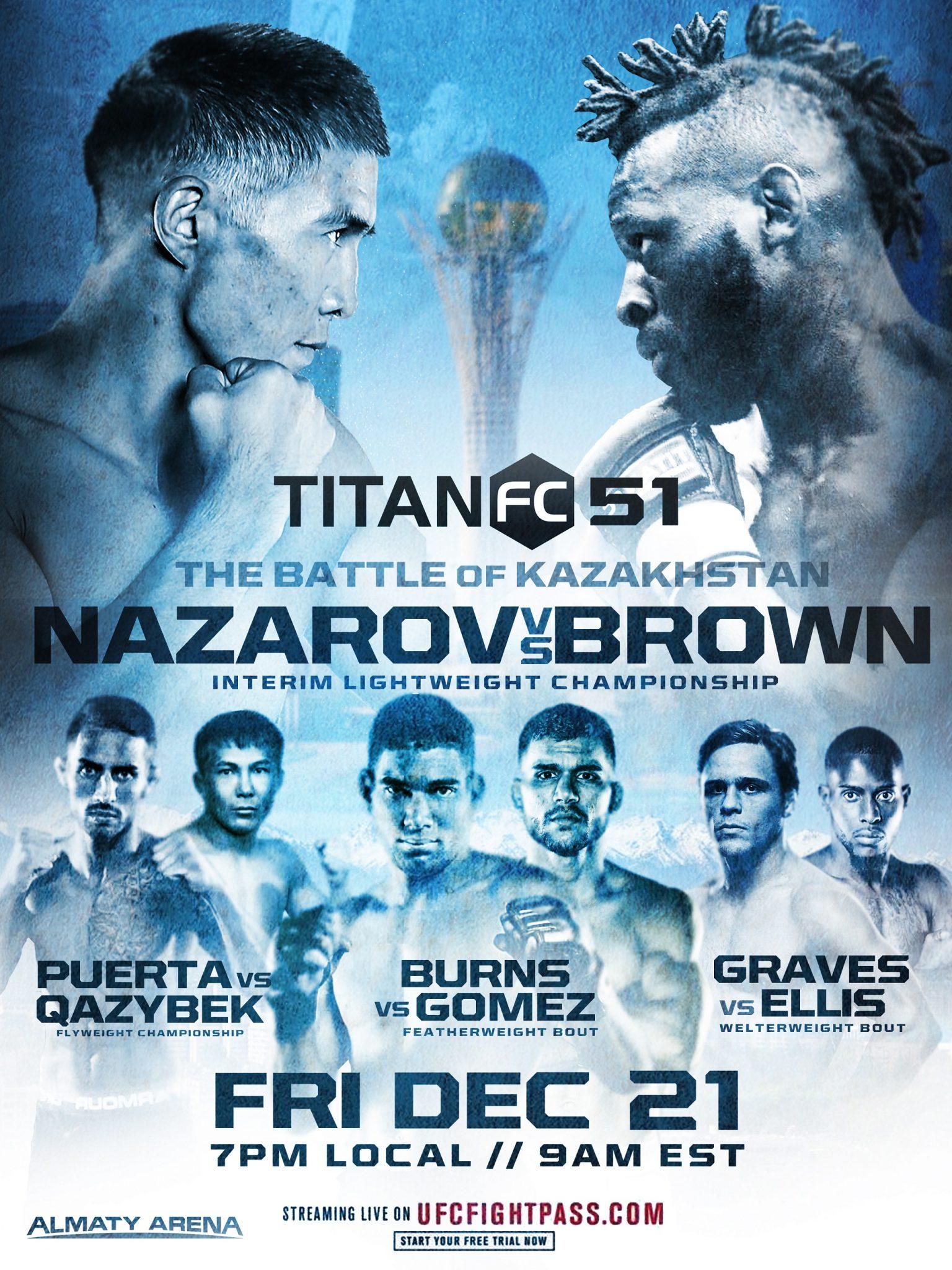 Titan FC 51, Kazakhstan