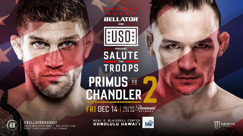 American Forces Network to Simulcast Bellator and USO Present: Salute the Troops on Friday, Dec. 14