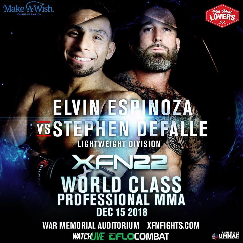 Elvin Espinosa, XFN 22