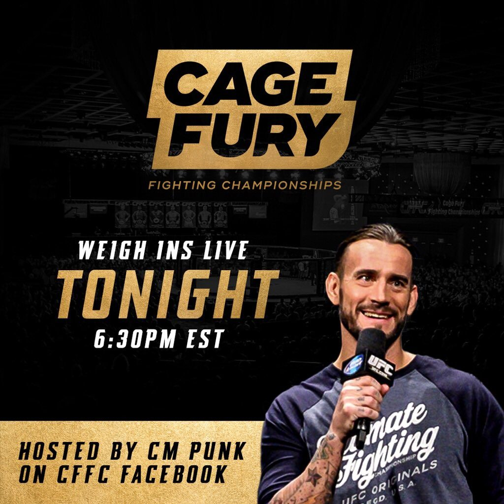 CFFC 71 weigh-in results and video - CM Punk hosts the action