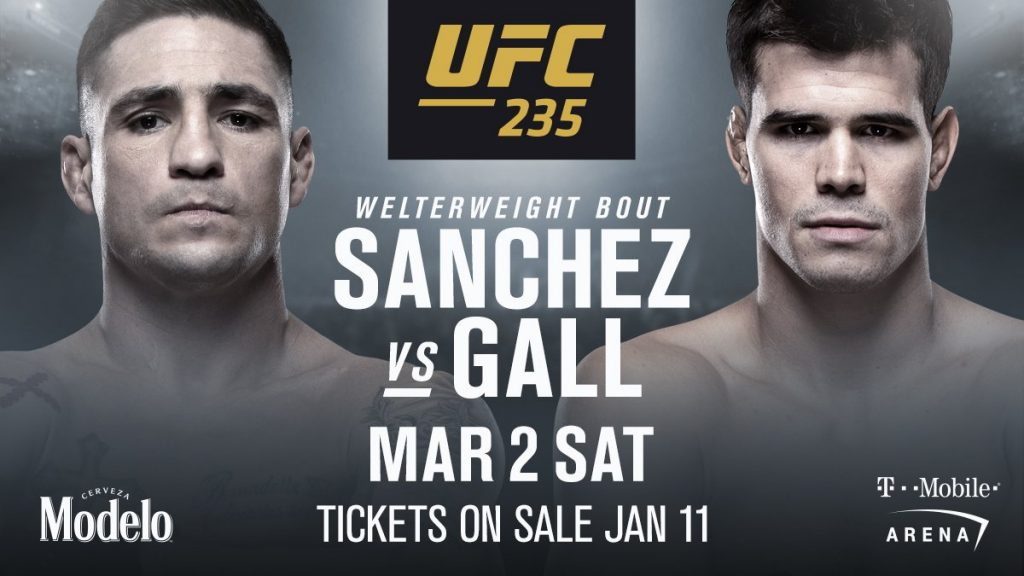 Mickey Gall vs. Diego Sanchez added to UFC 235