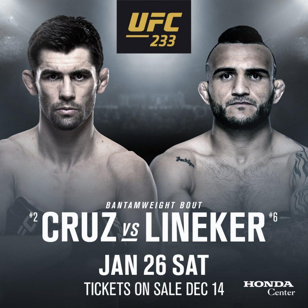 UFC 233, Dominick Cruz, John Lineker