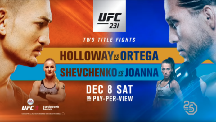 UFC 231 results - Holloway vs Ortega, Shevchenko vs Jedrzejczyk