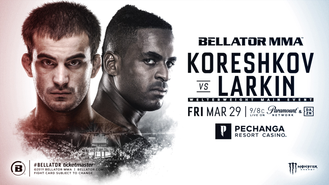 Former Bellator Champion Andrey Koreshkov Meets Lorenz Larkin at Pechanga Resort Casino on March 29