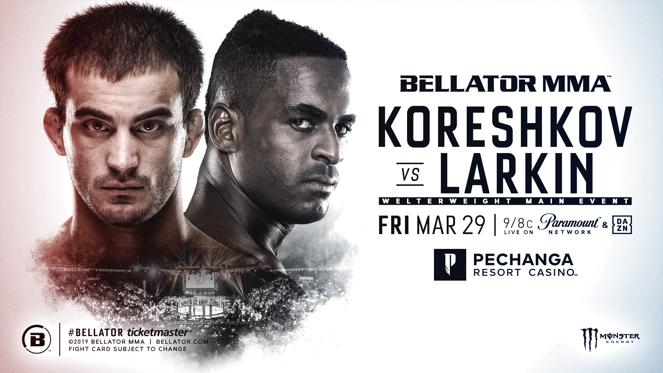 Former Bellator Champion Andrey Koreshkov Meets Lorenz Larkin at Pechanga Resort Casino on March 29