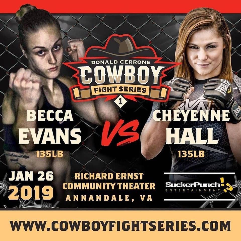 Rebecca Evans, Cheyenne Hall, Becca Evans, Cowboy Fight Series
