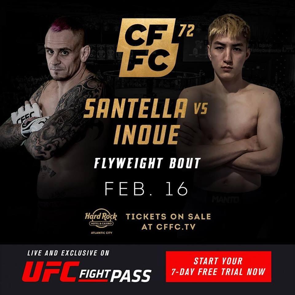 CFFC 72, Sean Santella, Naoki Inoue
