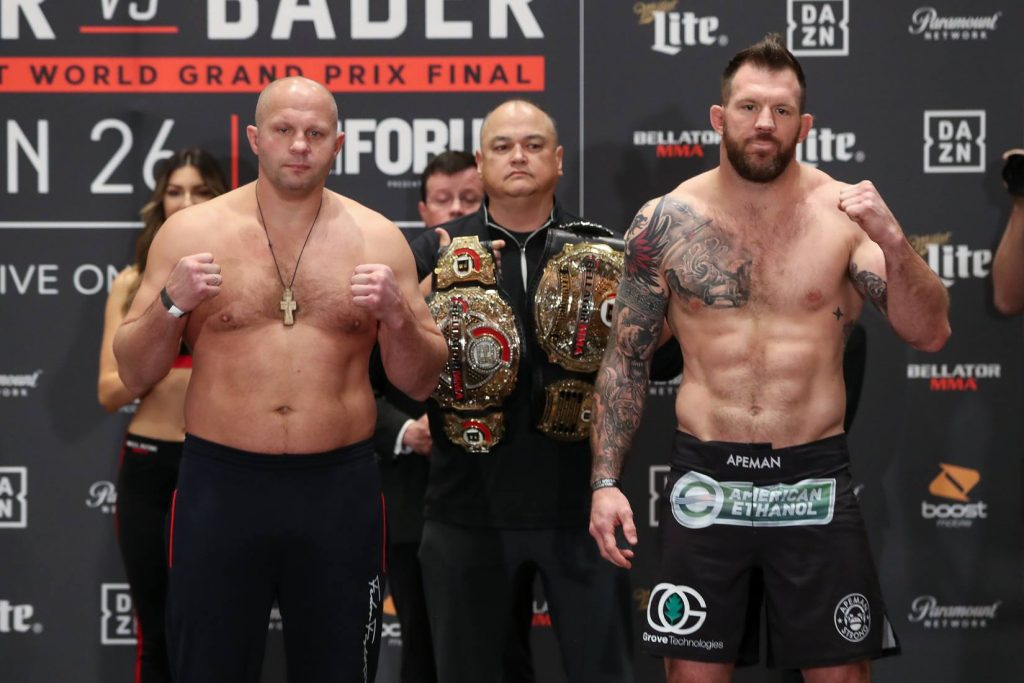Bellator 214 results - Ryan Bader vs. Fedor Emelianenko