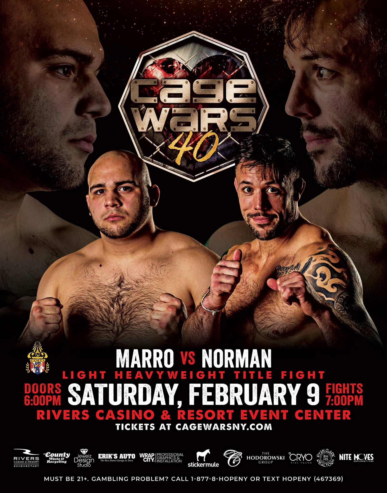 Alex Marro, Cage Wars 40