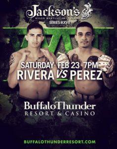 Jerome Rivera vs. Gene Perez headlines Jackson's MMA Series XXVII