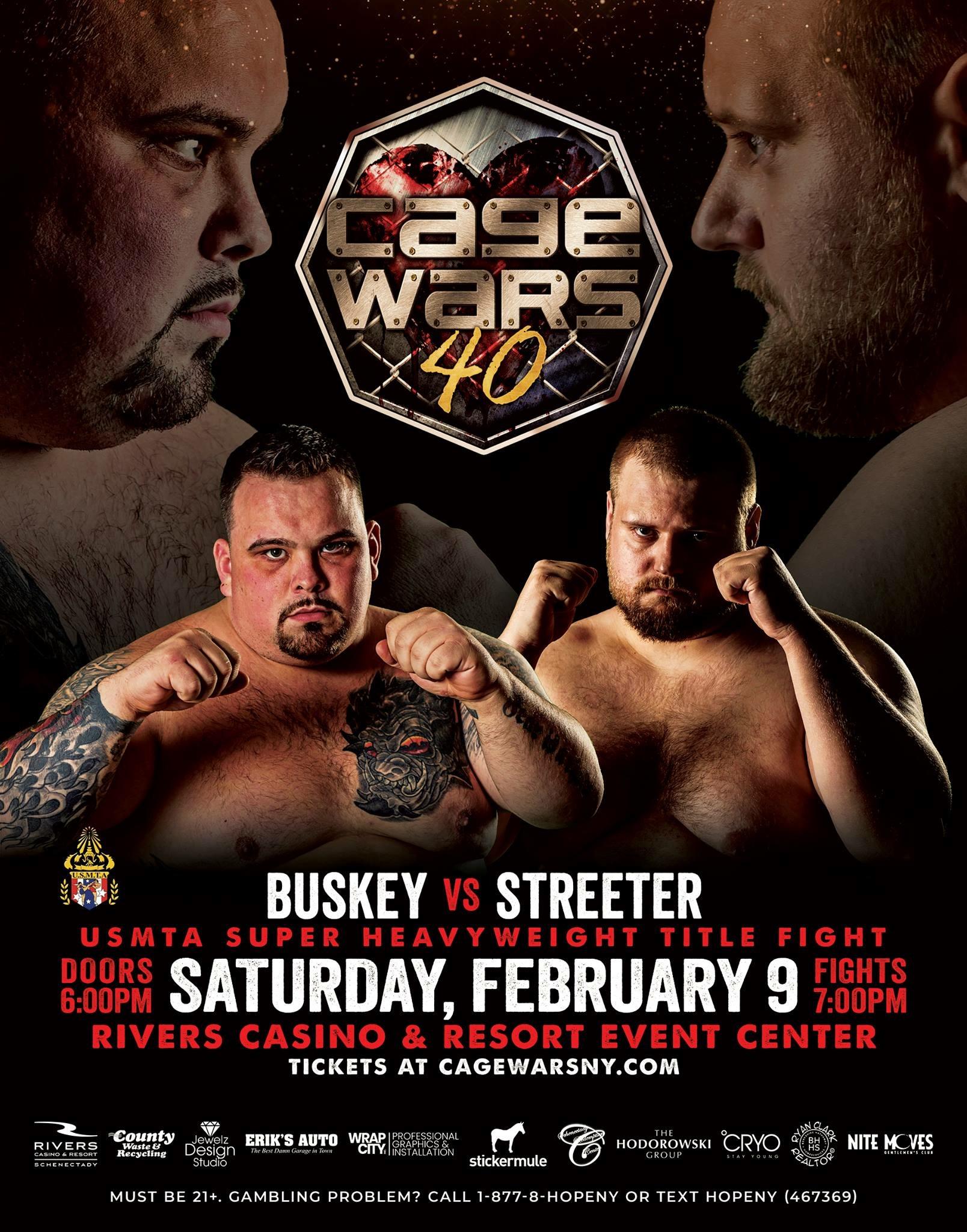 "Bob ""Jits Panda"" Buskey Confident He'll Derail the Beef Train (Travis Streeter) Cage Wars 40 | CCMMA Interview"