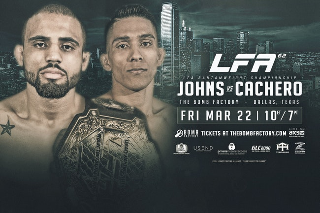 Johns vs. Cachero Title Fight Headlines LFA 62