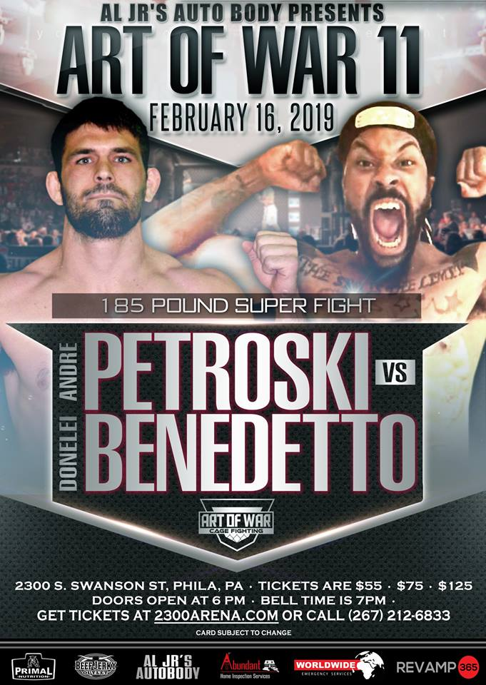 Andre Petroski, Art of War Cage Fighting