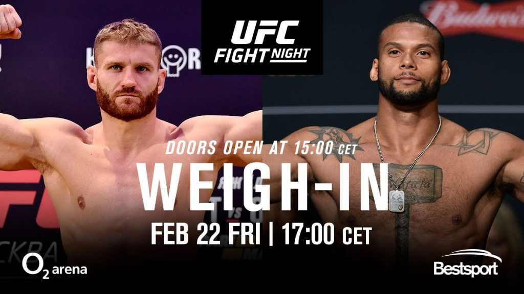 UFC Prague weigh-in results - 2 fighters miss the mark, fined