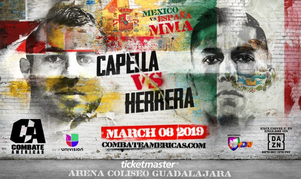 "Combate Americas Announces ""Mexico vs. Spain"" Live TV Event Series; Begins March 8"