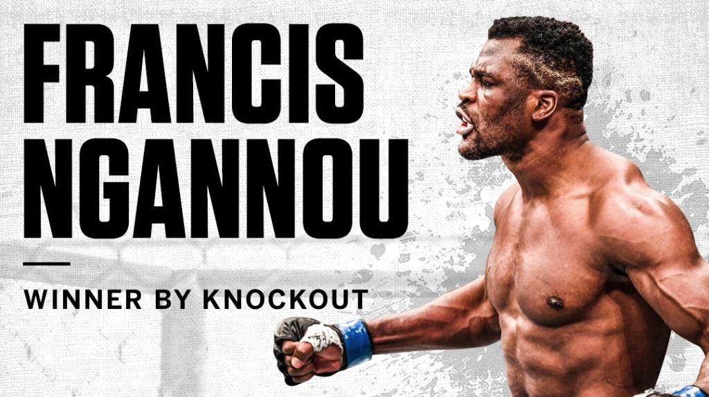 Francis Ngannou says the uppercut not the knee injury caused KO win over Velasquez