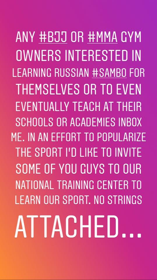 MPR Endurance opening doors to help promote Sambo