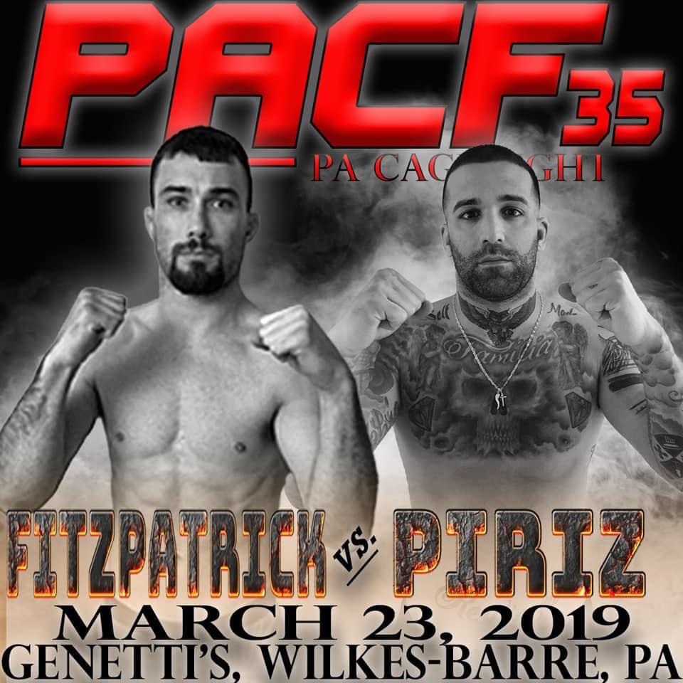 PA Cage Fight 35, Jim Fitzpatrick, Chrisotpher Piriz