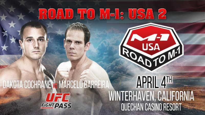 "Marcelo Barreira vs. Dakota Cochrane Headlines ""Road to M-1: USA 2"""