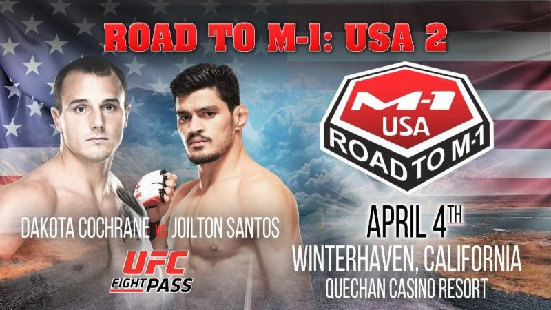 "Dakota Cochrane gets new opponent for ""Road to M-1: USA 2"" main event"