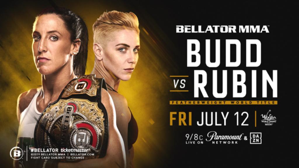 Julia Budd Defends Her Bellator Featherweight World Title Against Olga Rubin on July 12