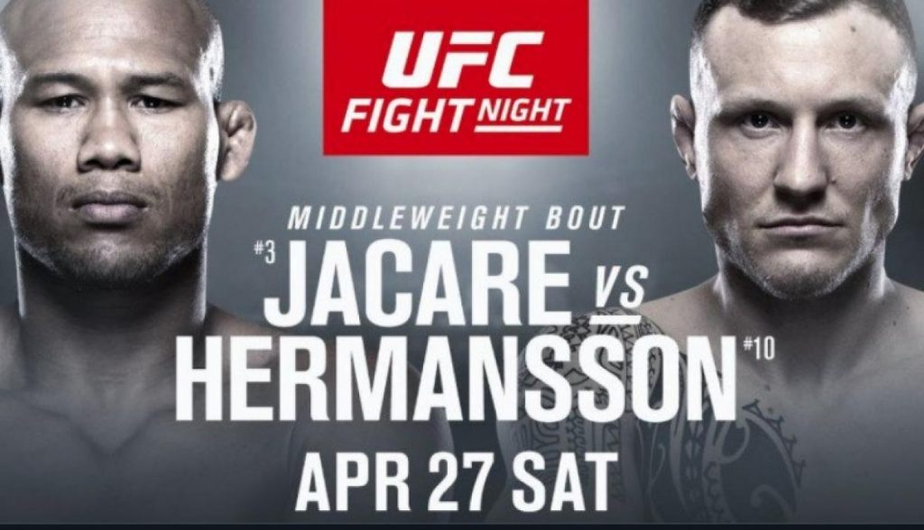 UFC Fort Lauderdale results - Jacare vs. Hermansson