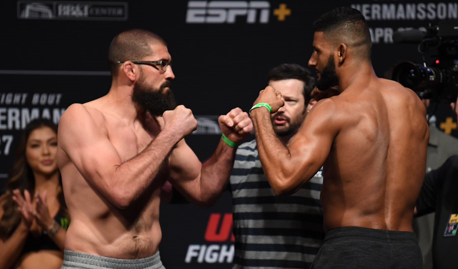 Dhiego Lima decisions Court McGee in UFC on ESPN+: Jacare vs Hermansson opener