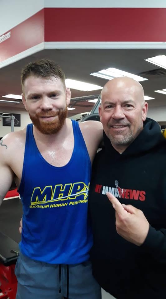 Paul Felder and Bob Meloni at TKO Fitness in Cherry Hill, N.J.