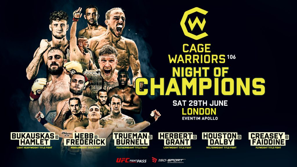 Cage Warriors, Cage Warriors 106, Night of Champions