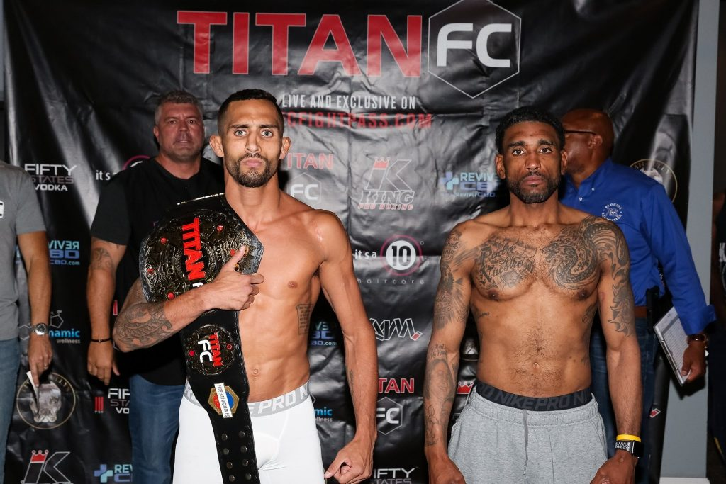 Titan FC 55 weigh-in results - Puerta vs. Ledesma