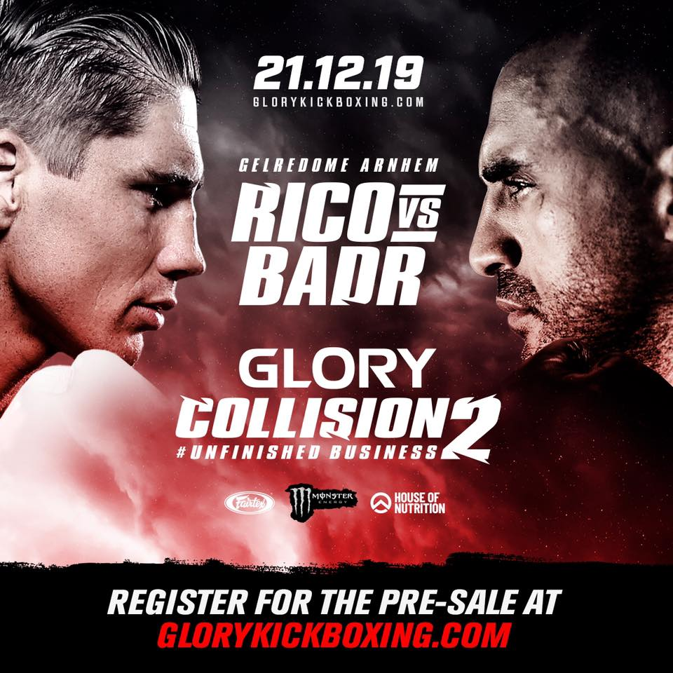 RICO vs BADR 2: The rematch is on at GLORY Kickboxing Collision 2