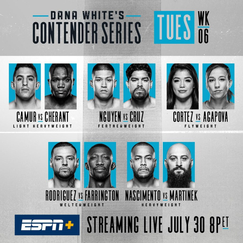 Dana White's Contender Series 22 results
